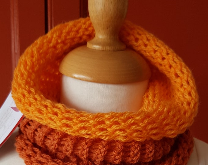 Neckwarmer, cowl, funky neck warmer, chunky cowl, circular scarf, circular  cowl, vibrant coloured neckwarmer