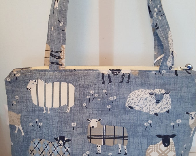 Bag for ladies, ladies bag, shoulder bag, handbag, zipped bag, Mothers day gift, inner pocket bag, lightweight bag, handcrafted bag