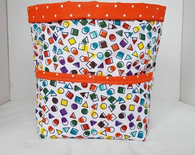 Knitting basket, knitting caddy, knitting bucket,  knitting storage,  crochet storage,  craft basket, project basket, wool storage basket