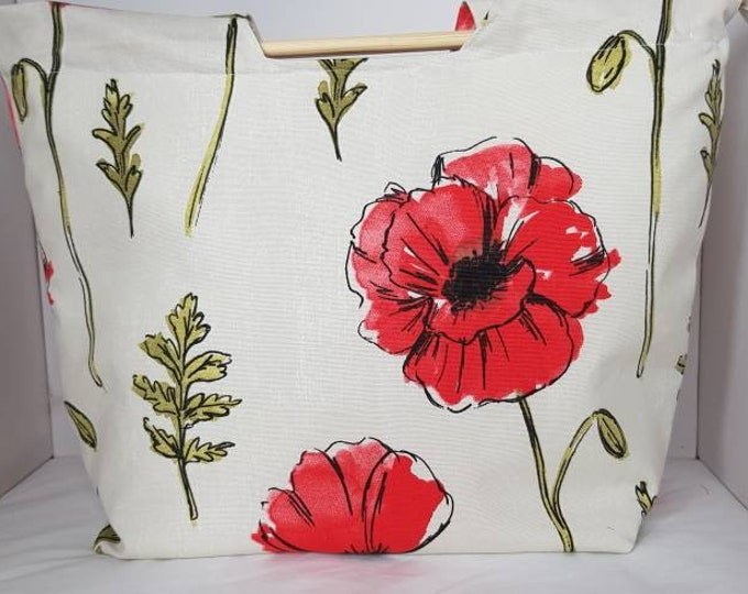 Knitting bag, crafting bag,  zipped knitting bag,  traditional style knitting storage bag, craft storage bag, handmade knitting/crochet bag