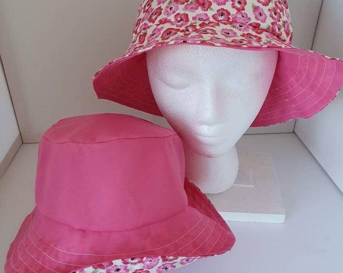 Sunhat for ladies,  reversible polycotton fabrics