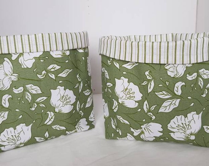 Decorative plant holders, plant cosies, fabric baskets, plant covers, useful baskets, household baskets, fabric decor, baskets
