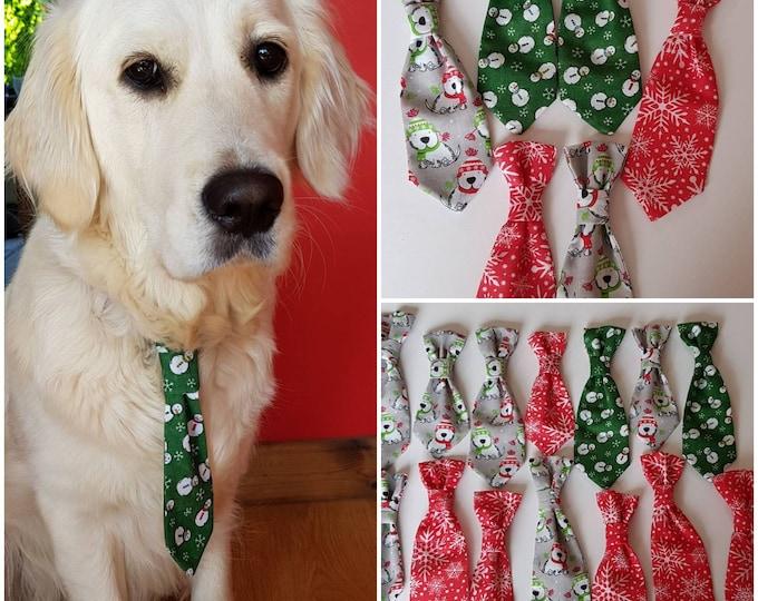 Dog Christmas bandanas, ties and bow ties, Christmas accessories for dogs,  dog ties, dog bandanas, dog bow ties