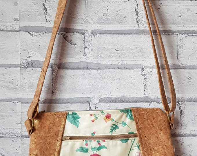 Bag, cork bag, ladies bag, shoulder bag, crossbody bag, ladies cork bag, handmade bag, Poppy Willow bag