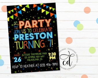boy birthday invitations etsy