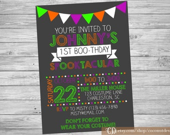 boos and booze halloween party halloween party invitation etsy