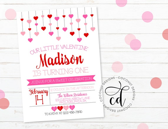 Valentinstag Geburtstags Einladung Etsy