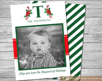 Christmas Photo Card / Holiday Photo Card / Back Side / Christmas Card / Holiday Card / Digital File