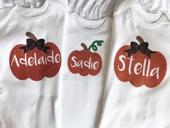 The cutest pumpkin in the patch pumpkin fall name bodysuit first thanksgiving pumpkin patch outfit. pumpkin name shirt fall shirt