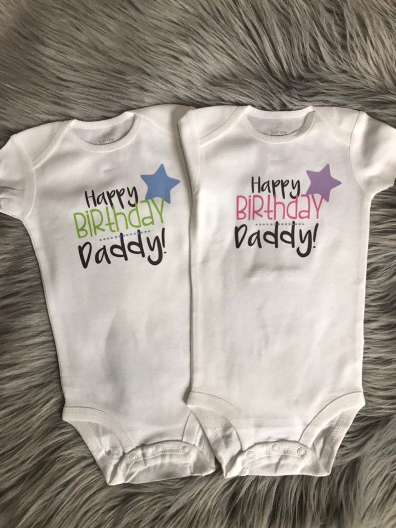 6ccc21083 Happy Birthday Daddy Custom Date onesie. I love daddy. Custom | Etsy