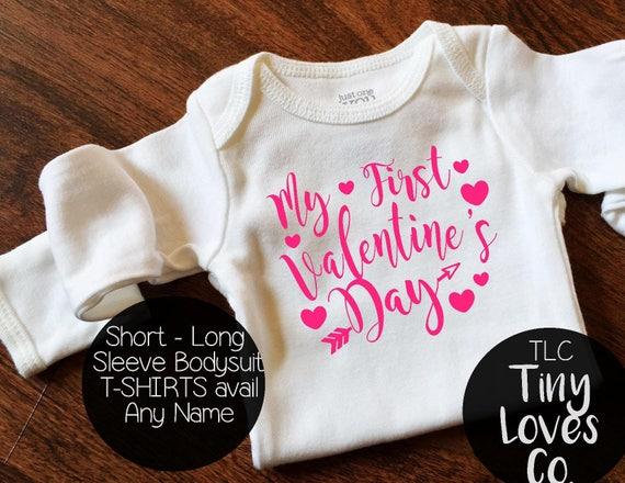 First Valentines Day Baby First Valentines Day Valentines Etsy