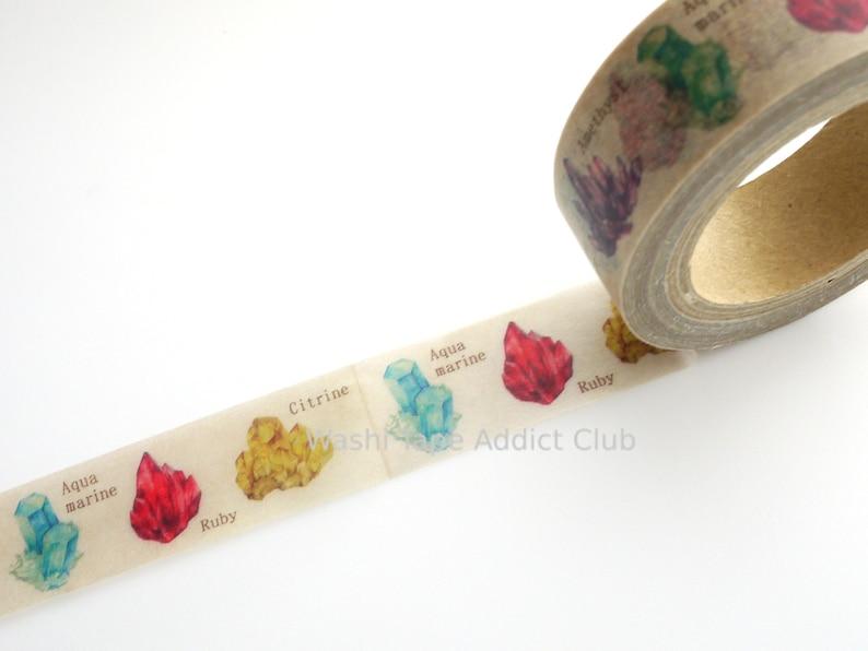 Gem washi tape Crystal washi tape Mineralogy tape