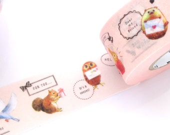 mt for PACK, Strong washi tape, Animal girly tape, Antique stype tape, Gift wrapping tape, Japanese stationery, Stationery geek Gift for her