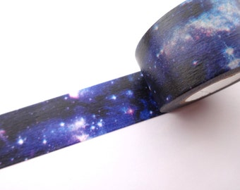 Galaxy washi tape, Night sky tape, Stationery gift, Gift wrapping, Japanese washi tape, Wide masking tape, Japanese stationery, Galaxy tape