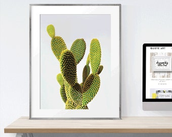 Digital Download Print   Cactus Wall Art Printable  Art scalable to 50x70 cm