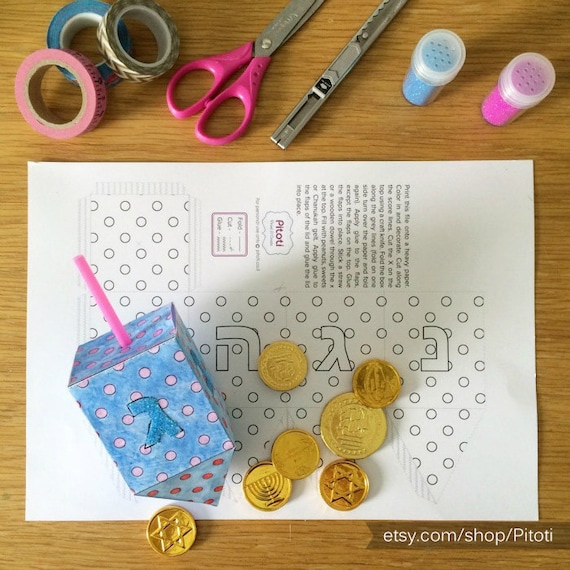 image relating to Printable 3d Paper Crafts titled Hanukkah Dreidel Paper Craft for youngsters, printable Dreidel
