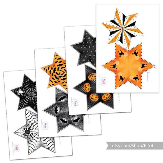 Printable Halloween Decoration Printable Halloween Stars Etsy