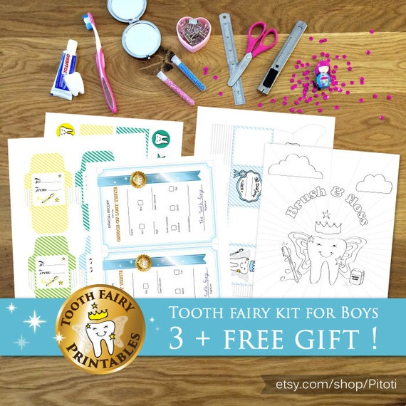 photograph regarding Free Printable Tooth Fairy Letters named Teeth fairy package for boys: printable do-it-yourself Enamel fairy box