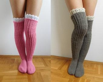 Knee socks CROCHET PATTERN, Digital download, Over the knee socks, Knee high socks, Instant download, PDF file N.201