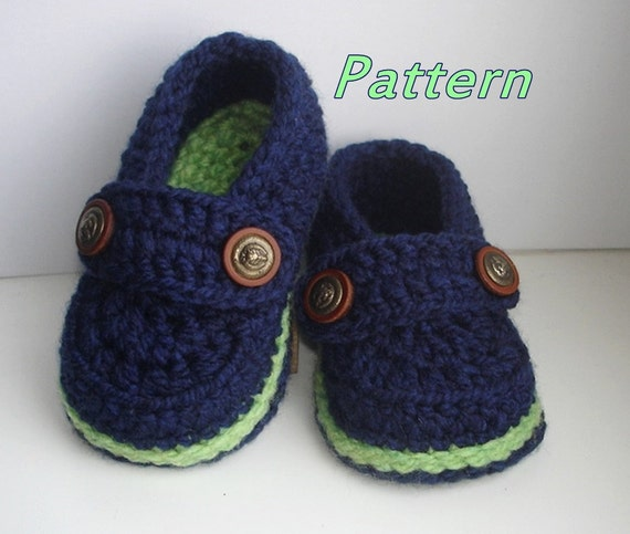 Easy Crochet Pattern Baby Loafers Baby Booties Crochet Etsy
