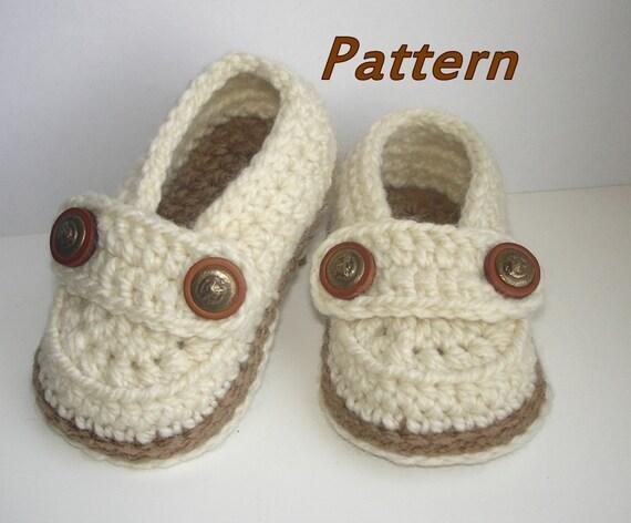 Crochet Baby Shoes Pattern Easy Crochet Pattern Baby Etsy