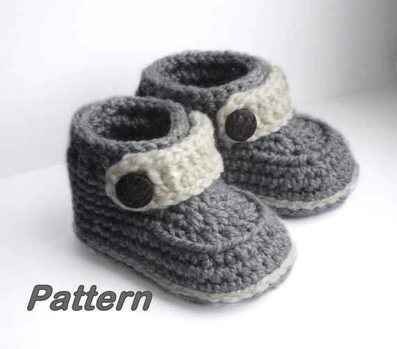 Crochet Baby Booties Baby Booties Crochet Pattern Easy Etsy