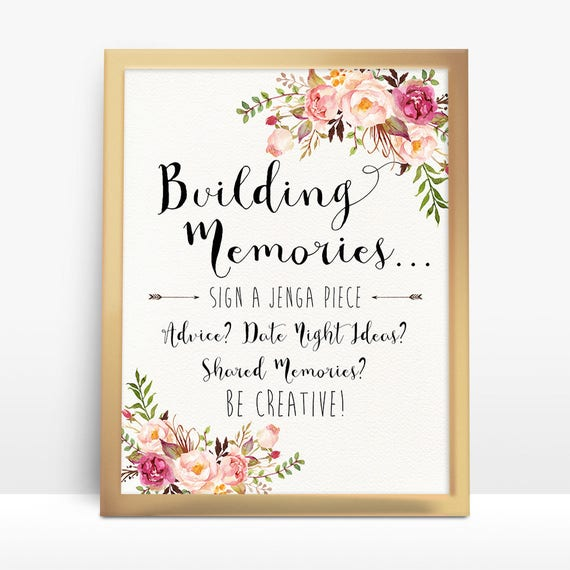 Wedding Guest Book Where It S Your Guests That Sign Their: Jenga Guest Book Sign Wedding Jenga Jenga Sign Jenga Guest