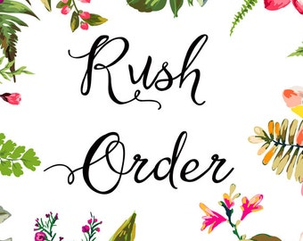 Rush delivery add on - guaranteed delivery in 24 hours or less - rush my order printable, RUSH order fee for printable PDF/JPG Invitation