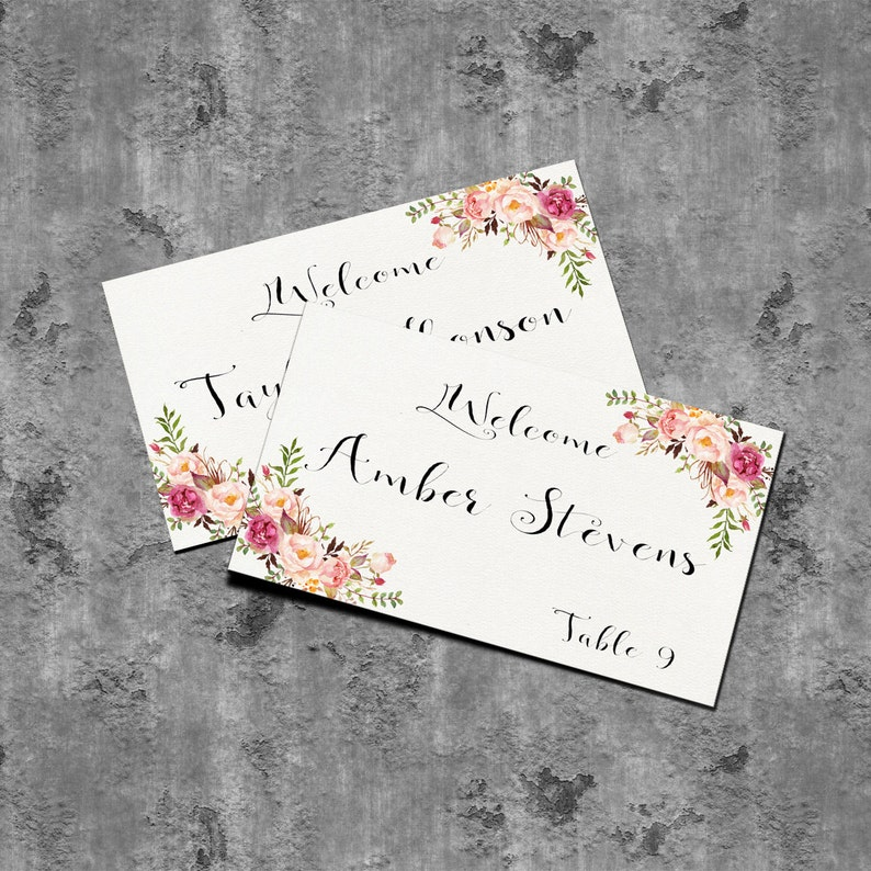 Printable Blank Place Cards Printable Escort Cards Blank seating cards Reception Place Cards PF-18 wedding gifts card
