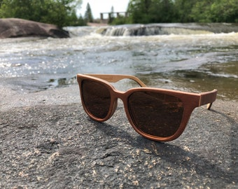 f8825b021d6c Brown Skateboard Wood Sunglasses Polarized Sunglasses Rectangular Sunglasses  Womens Sunglasses Wood Accessories Eco Gifts Brown Lenses