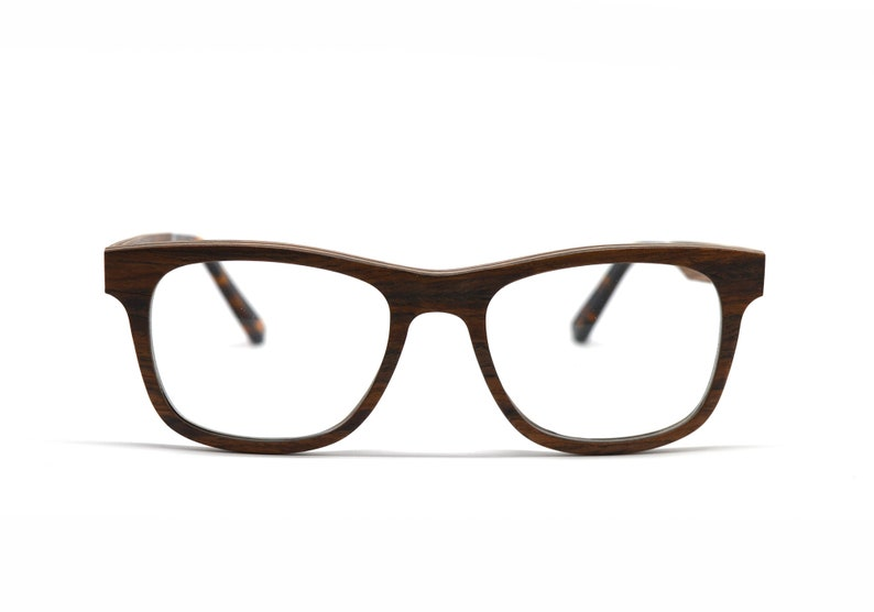 3845658b31 Real Wood Square Shape Eyeglasses Universal Unisex Wooden