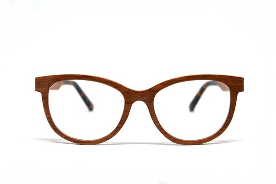 0c281f52e1 Walnut Wood Cat Eye Glasses Wooden Glasses Wood Eyeglasses