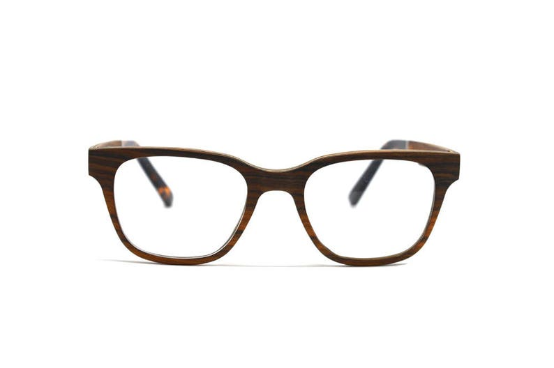 cff3b07a27 Rectangular Wooden Eyeglasses Real Wood Handmade Optical