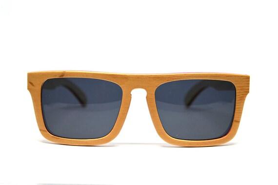 7d2f9e994b7d Natural Wood Sunglasses Beige Wood Skateboard Wood Recycled Skateboard Bamboo  Sunglasses Eco Friendly Polarized Sunglasses Wooden Glasses