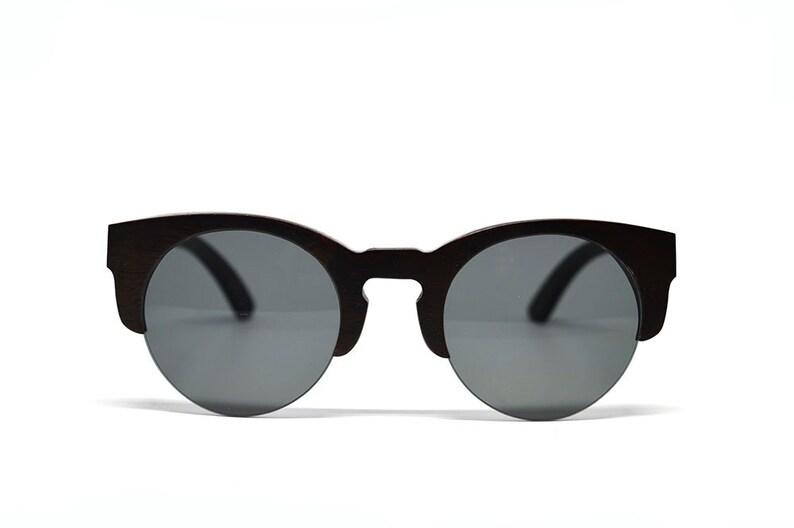 3b244c5c38 Black Bamboo Wood Sunglasses Handmade Sunglasses Bamboo