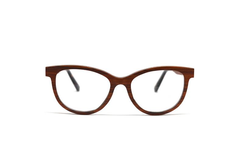 fcda897316a2 Rose Wood Cat Eye Optical Frames Real Wood Handcrafted