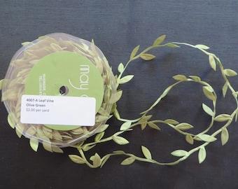 Olive Green Leaf Vine Trim 4007A