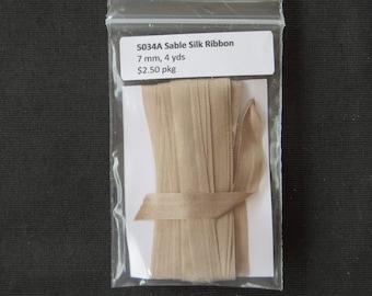 5034A Sable Silk Ribbon  7mm
