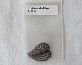 1193 Woven Leaf charm, dimensional