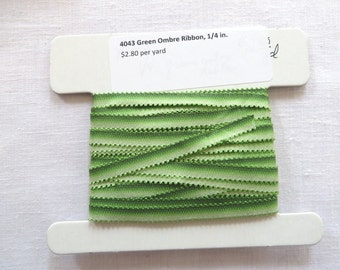 Green Ombre Ribbon 4043