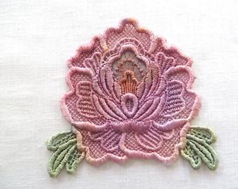 Rose Applique Hand-dyed Venise Lace 6036D