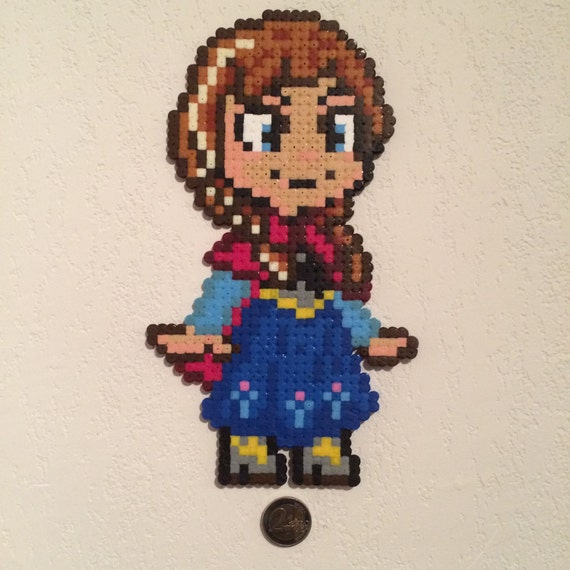 Items Similar To Decoration Anna Pixel Art Snow Queen On Etsy