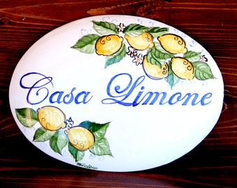 Kitchen gifts decor Hand painted on Italian ceramic tile New house plaques ceramic plaque gift for the newlyweds inauguration gifts