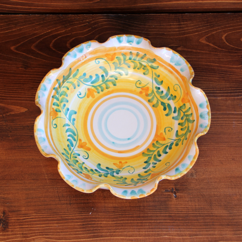 centrepiece bowl in italian artistic ceramics decorative tray italy