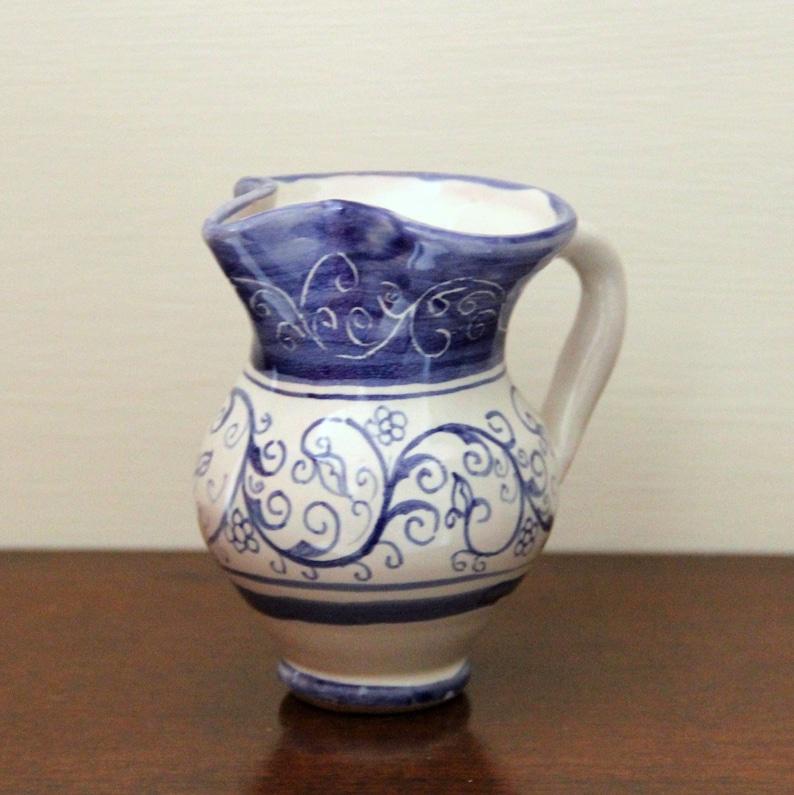 Vaso Soprammobile di ceramica brocca blu in miniatura | Etsy