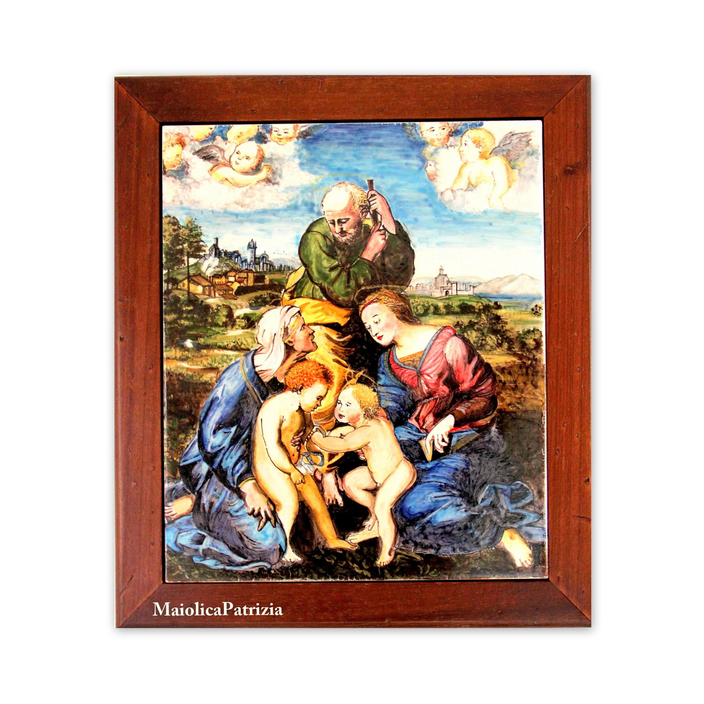 Madonna With Child Holy Family Painting Raffaello Italian Gift
