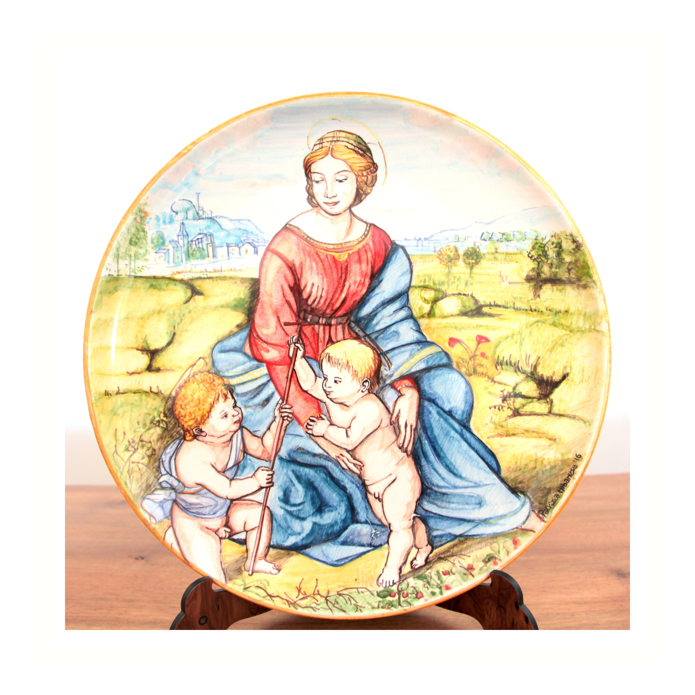 Ceramic plate Madonna and Child Italian Renaissance Italian majolica ...