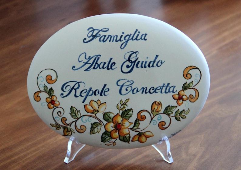 Targhette Per Porte In Ceramica.Targa Numero Civico In Ceramica Italiana Personalizzata Etsy
