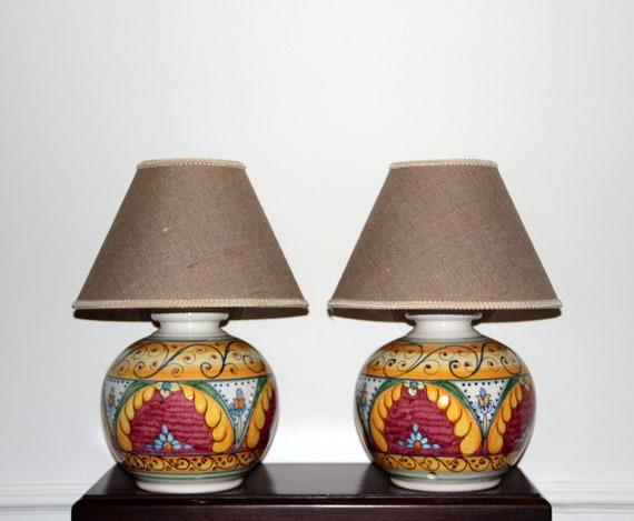Lampade personalizzate di ceramica italiana per comodini   Etsy
