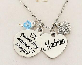 Madrina de regalo para navidad Madrina regalo texto español regalo de  cumpleaños regalo de la tambien regalo Ahijada del joyas para madrina d1605ff1ddc